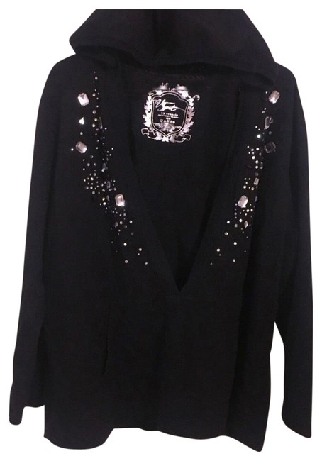 Preload https://item2.tradesy.com/images/venezia-by-lane-bryant-black-embellished-open-front-sweatshirthoodie-size-18-xl-plus-0x-23339806-0-1.jpg?width=400&height=650