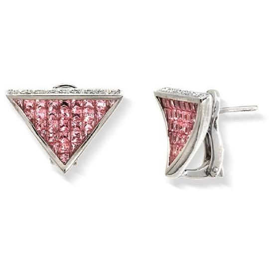 Preload https://item5.tradesy.com/images/18k-white-gold-018-ct-diamonds-and-580-ct-pink-sapphire-earrings-23339834-0-0.jpg?width=440&height=440