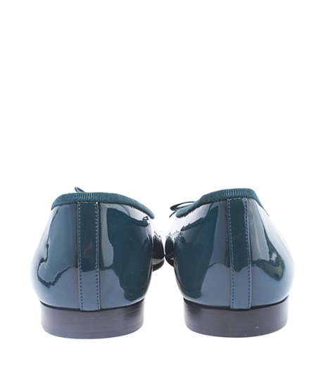 Chanel Patent Leather Green Flats