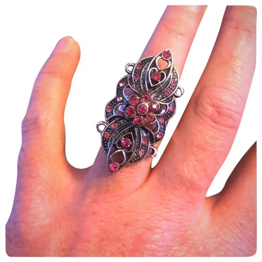 Preload https://item4.tradesy.com/images/silver-pink-fashion-statement-ring-23339843-0-2.jpg?width=440&height=440
