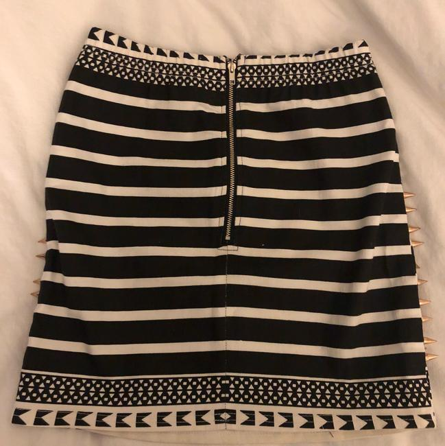 LF Mini Skirt Black White Rose Gold