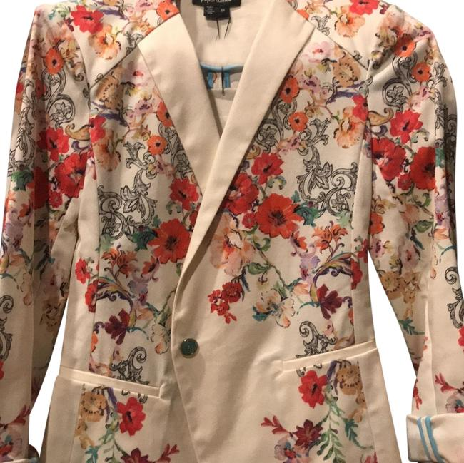 Preload https://item4.tradesy.com/images/floralwhite-blazer-size-4-s-23339888-0-1.jpg?width=400&height=650