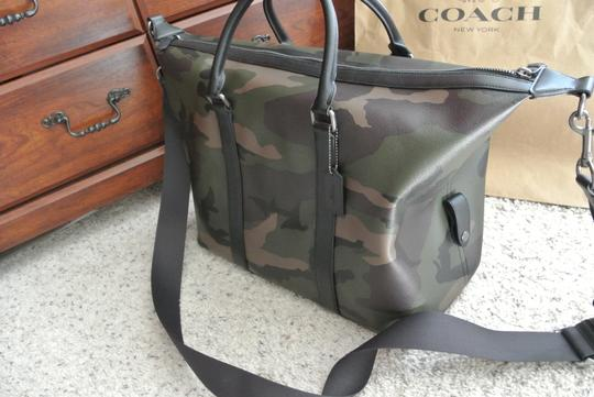 Coach Camo Print Dark Green Travel Bag