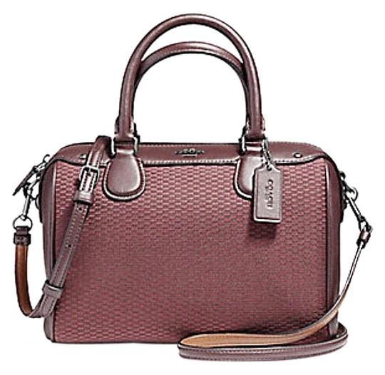 Preload https://item4.tradesy.com/images/coach-bennett-mini-in-exploded-reps-print-jacquard-57242-oxblood-pebble-leather-satchel-23339948-0-1.jpg?width=440&height=440
