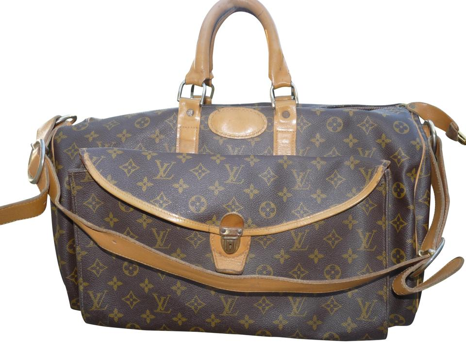 22d73fcdcd50 Louis Vuitton Speedy Vintage Brown Canvas Weekend Travel Bag - Tradesy
