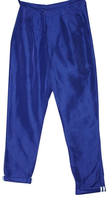 Preload https://item5.tradesy.com/images/blue-nylon-pleated-front-women-s-trousers-size-0-xs-25-23339989-0-1.jpg?width=400&height=650
