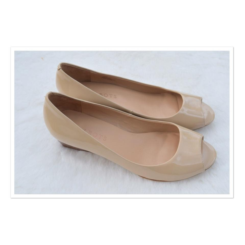 Talbots Wedges Cream Peep Toe Low Wedges Talbots bfd4de