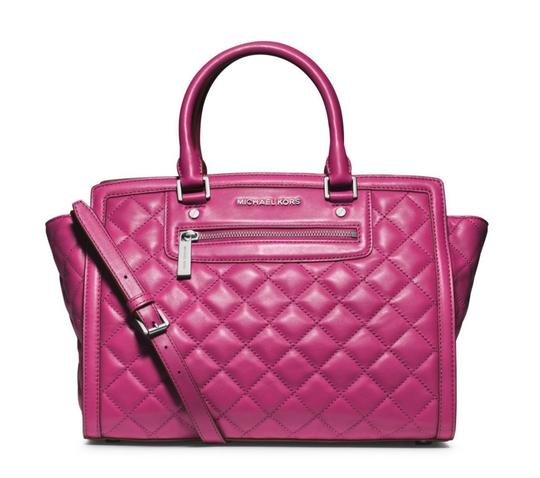 Preload https://img-static.tradesy.com/item/23339996/michael-kors-selma-large-top-deep-pink-quilted-leather-satchel-0-0-540-540.jpg