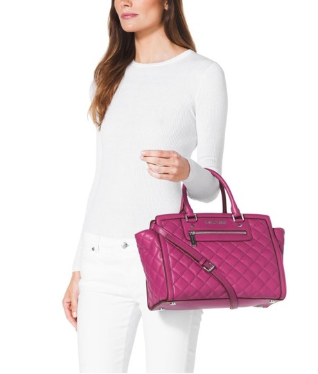 Michael Kors Next Day Shipping Satchel in Deep Pink Image 1