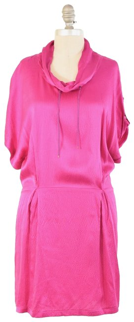 Preload https://item5.tradesy.com/images/hot-pink-draped-short-cocktail-dress-size-12-l-23340004-0-1.jpg?width=400&height=650
