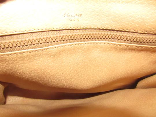 Céline Early Style Mint Vintage Rich Shades Of Brown /Cosmetic dark khaki macadam print coated canvas and pecan colored leather Clutch Image 9