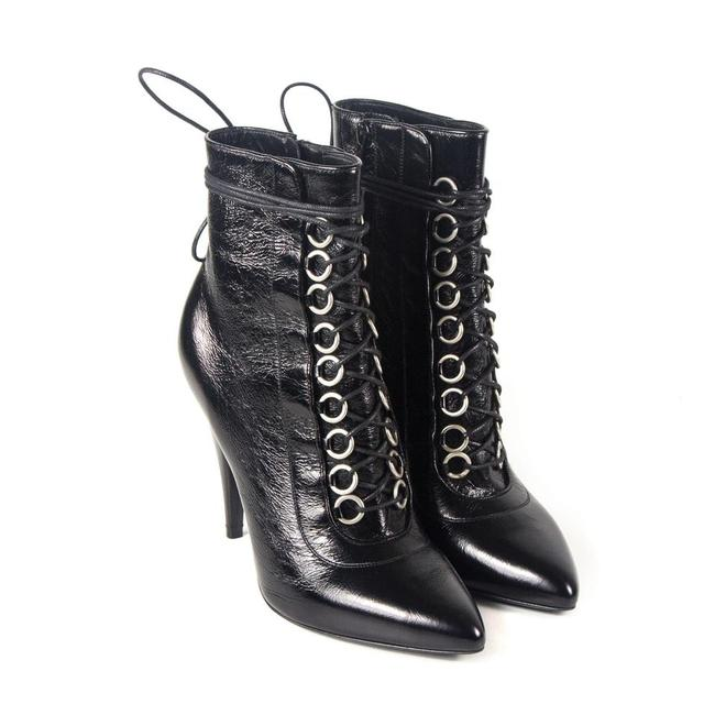 Item - Black Fetish Leather Lace-up Boots/Booties Size EU 39 (Approx. US 9) Regular (M, B)