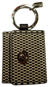 Coach Coach Printed Leather Picture Frame Key Ring