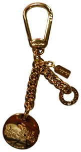 Coach Coach Metal Logo Charm Key Ring