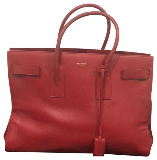 Preload https://item5.tradesy.com/images/saint-laurent-sac-de-jour-red-leather-satchel-23340149-0-2.jpg?width=440&height=440