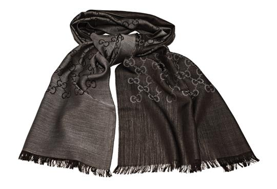 Preload https://item1.tradesy.com/images/gucci-graphite-and-dark-brown-gg-logo-wool-silk-scarfwrap-scarfwrap-23340155-0-2.jpg?width=440&height=440