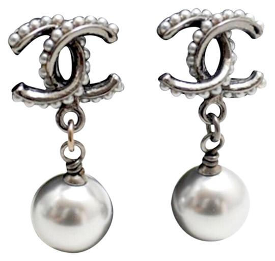 Preload https://item3.tradesy.com/images/chanel-grey-unique-gunmetal-cc-coco-bead-pearl-dangle-earrings-23340157-0-1.jpg?width=440&height=440