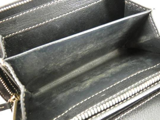 Gucci Sherry Web Shelly Chain Barbwire Black Clutch Image 2
