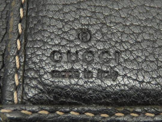 Gucci Sherry Web Shelly Chain Barbwire Black Clutch Image 3