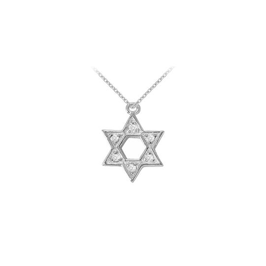 Preload https://img-static.tradesy.com/item/23340169/white-14k-gold-cubic-zirconia-star-pendant-005-ct-tgw-necklace-0-0-540-540.jpg