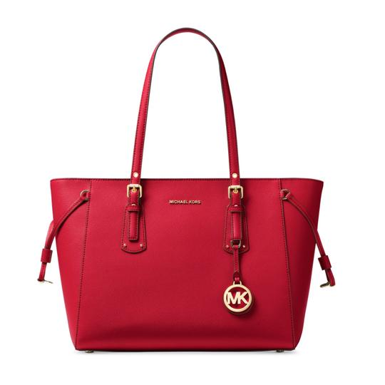 Preload https://item1.tradesy.com/images/michael-michael-kors-voyager-medium-bright-red-crossgrain-leather-tote-23340185-0-0.jpg?width=440&height=440