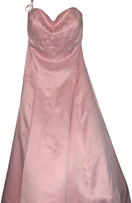 Preload https://img-static.tradesy.com/item/23340224/cache-pink-white-crystal-bead-embellished-strapless-wedding-bridesmaid-prom-satin-corset-fitted-ball-0-1-650-650.jpg