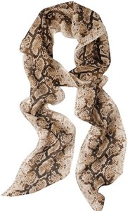 White House | Black Market WHBM silk snack print oblong scarf