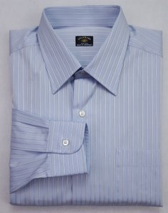 Blue Striped Dress 16 41 Mens Solemare 2 Ply Swi Shirt