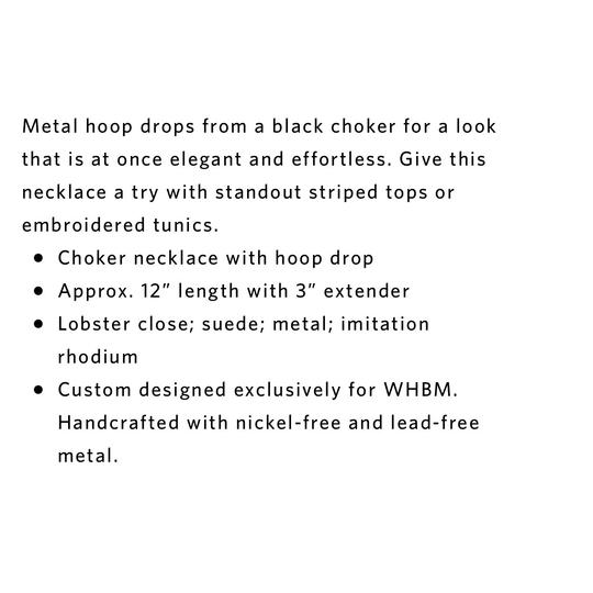 White House | Black Market WHBM choker with hoop drop
