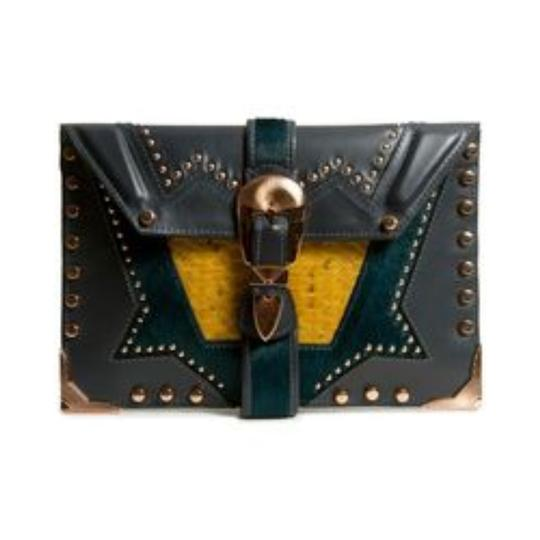 Ivy Kirzhner Leather Detail Braided Metallic Shoulder Bag
