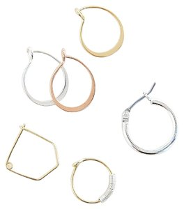 Urban Outfitters Metallic Essential Hoop Earring Set
