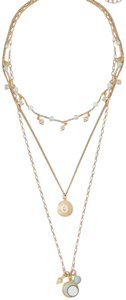White House | Black Market WHBM amazonite station multi row necklace