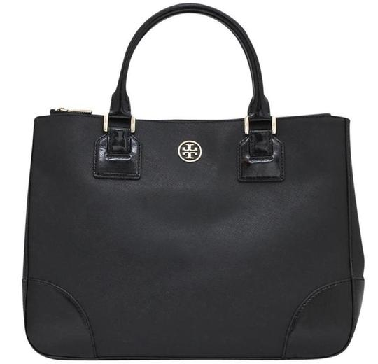 Preload https://img-static.tradesy.com/item/23340365/tory-burch-robinson-black-leather-tote-0-0-540-540.jpg