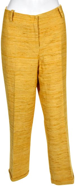 Preload https://img-static.tradesy.com/item/23340376/jmclaughlin-yellow-silk-zipper-fly-straight-leg-6-new-capricropped-jeans-size-29-6-m-0-2-650-650.jpg