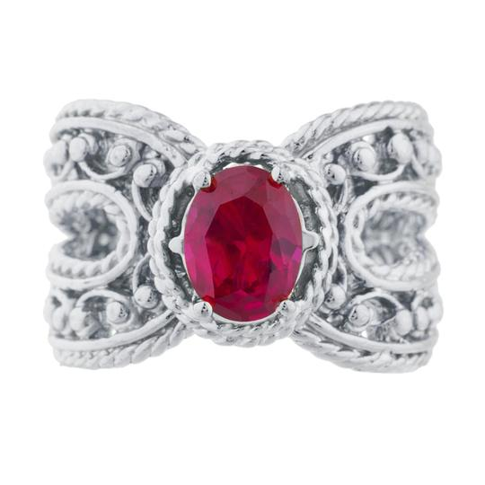 Preload https://item3.tradesy.com/images/15-ct-created-ruby-oval-cocktail-design-925-sterling-silver-ring-23340407-0-0.jpg?width=440&height=440