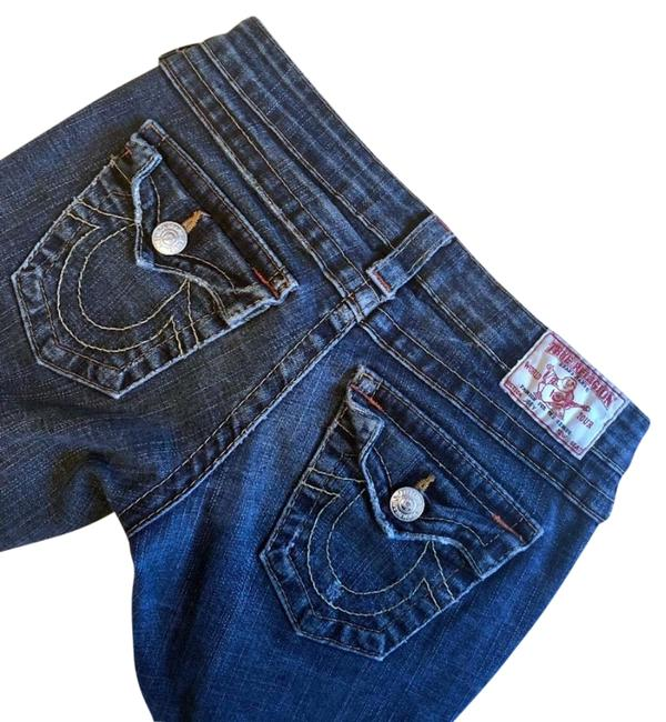 Preload https://item2.tradesy.com/images/true-religion-blue-distressed-boot-cut-jeans-size-26-2-xs-23340416-0-1.jpg?width=400&height=650