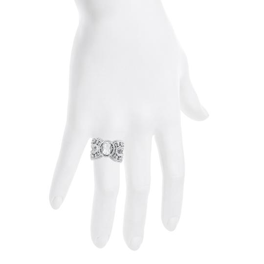 Elizabeth Jewelry 1.5 Ct Cubic Zirconia Oval Cocktail Ring .925 Sterling Silver Image 2