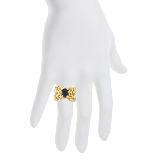 Elizabeth Jewelry 14Kt Yellow Gold Plated Genuine Black Onyx Oval Cocktail Ring