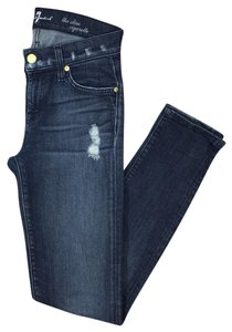 7 For All Mankind Denim Distressed Fall Night Out Skinny Jeans-Distressed