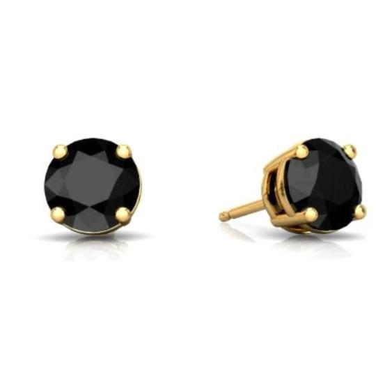 Preload https://item2.tradesy.com/images/14kt-yellow-gold-genuine-black-onyx-round-stud-earrings-23340491-0-0.jpg?width=440&height=440