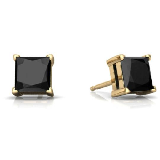 Preload https://item1.tradesy.com/images/14kt-yellow-gold-genuine-black-onyx-princess-cut-stud-earrings-23340495-0-0.jpg?width=440&height=440