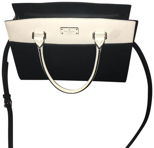 Preload https://item2.tradesy.com/images/kate-spade-blackwhite-leather-satchel-23340506-0-1.jpg?width=440&height=440