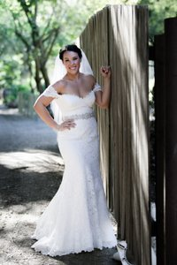 Romona Keveza Off-white Lace Natural White Legends L502 Traditional Wedding Dress Size 10 (M)