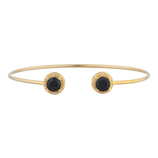 Preload https://img-static.tradesy.com/item/23340561/14kt-yellow-gold-plated-genuine-black-onyx-and-diamond-bangle-bracelet-0-0-540-540.jpg