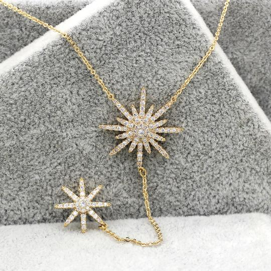Ocean Fashion 925 Gold Fashion Starfish Crystal Necklace Image 5