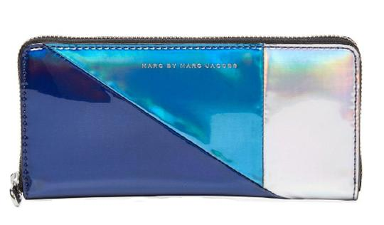 Preload https://img-static.tradesy.com/item/23340588/marc-by-marc-jacobs-navy-metallic-multi-space-techno-colorblock-slim-zip-around-wallet-0-0-540-540.jpg