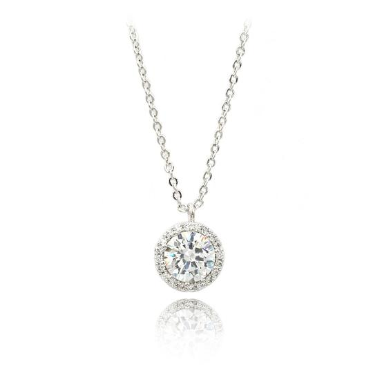 Ocean Fashion Fashion Silver Crystal Earrings Necklace Set Image 2