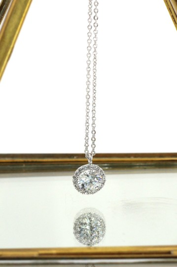 Ocean Fashion Fashion Silver Crystal Earrings Necklace Set Image 7