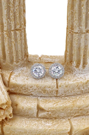 Ocean Fashion Fashion Silver Crystal Earrings Necklace Set Image 9