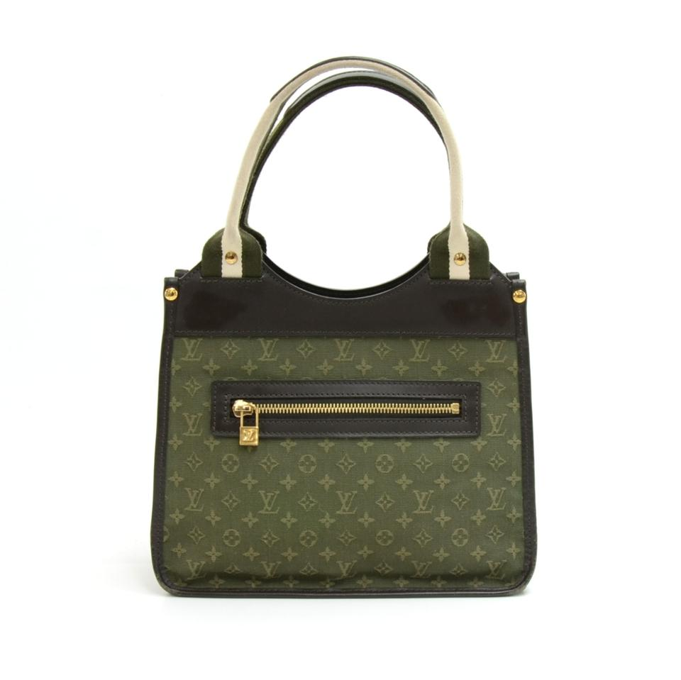 2836b719a Louis Vuitton Sac Kathleen Dark Mini Monogram Handbag Green Canvas ...